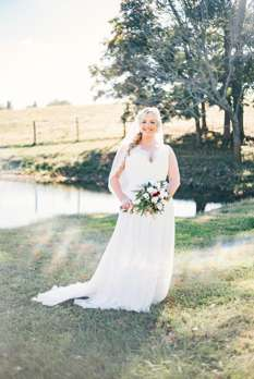 Bridal portrait at fall outdoor wedding in Kentucky