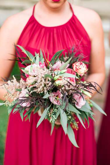 Mixed floral bridesmaid bouquet