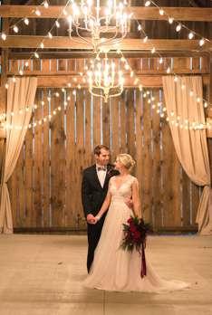 Bride & Groom in Kentucky wedding barn