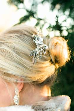 Hair accessories for winter wedding