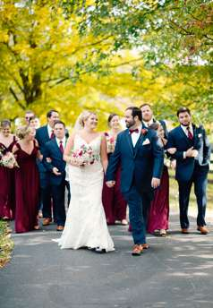 Wedding Party at fall Warrenwood Manor wedding