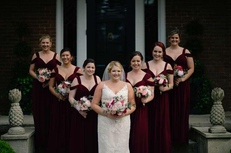 Fall Bridal Party at Warrenwood Manor wedding