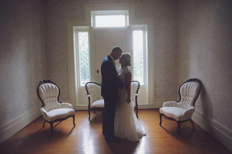 Bride and Groom in Warrenwood Manor