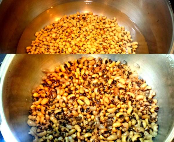 Cooked Black Eyed Peas| www.warriorinthekitchen.com