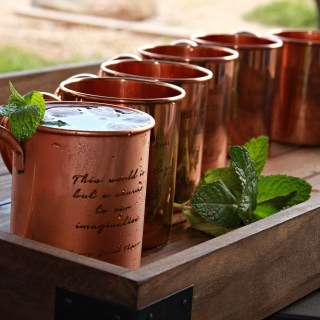 100% Pure Engraved Copper Mugs