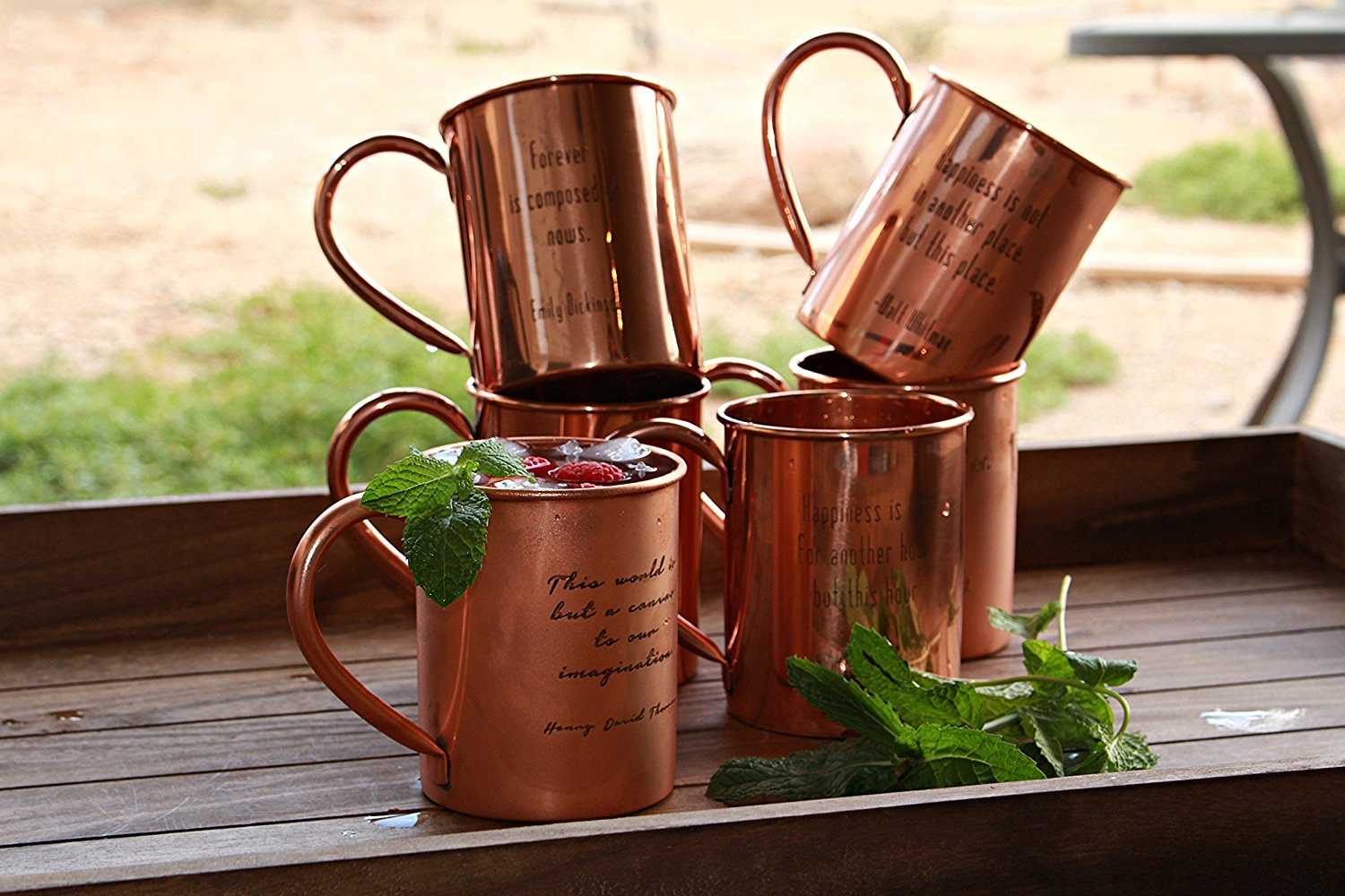 100% Pure Copper Mugs Engraved