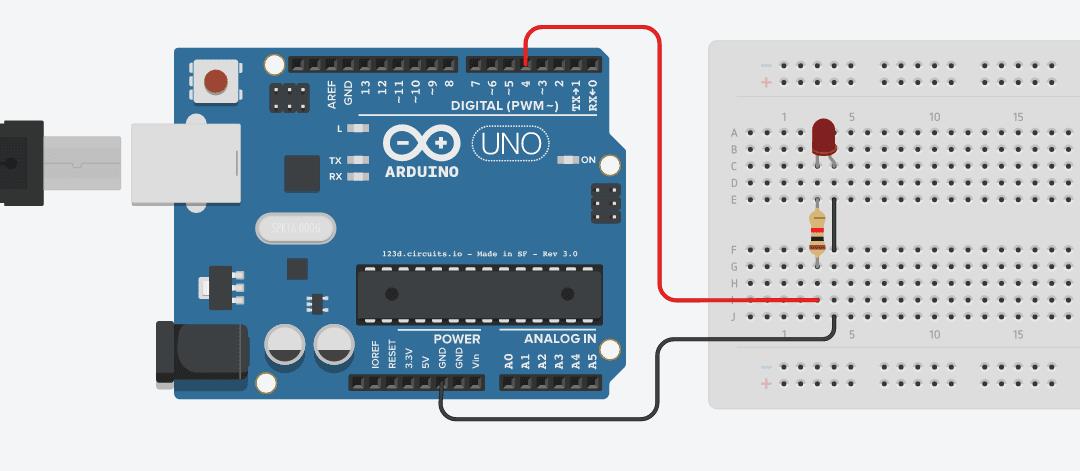 Menyalakan LED Menggunakan Arduino UNO