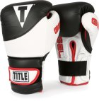 TITLE Gel Boxing Gloves Black White