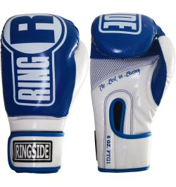 Ringside boxing gloves - blue and white