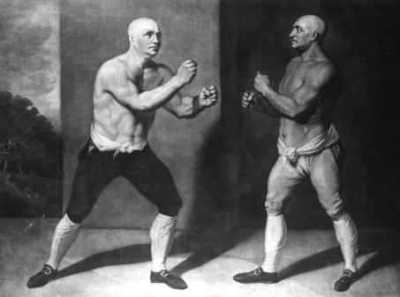 Bare-knuckle boxers face-off