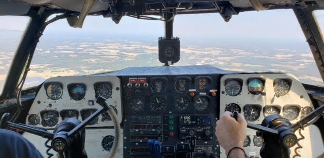 Image of Tinker Belle's cockpit.