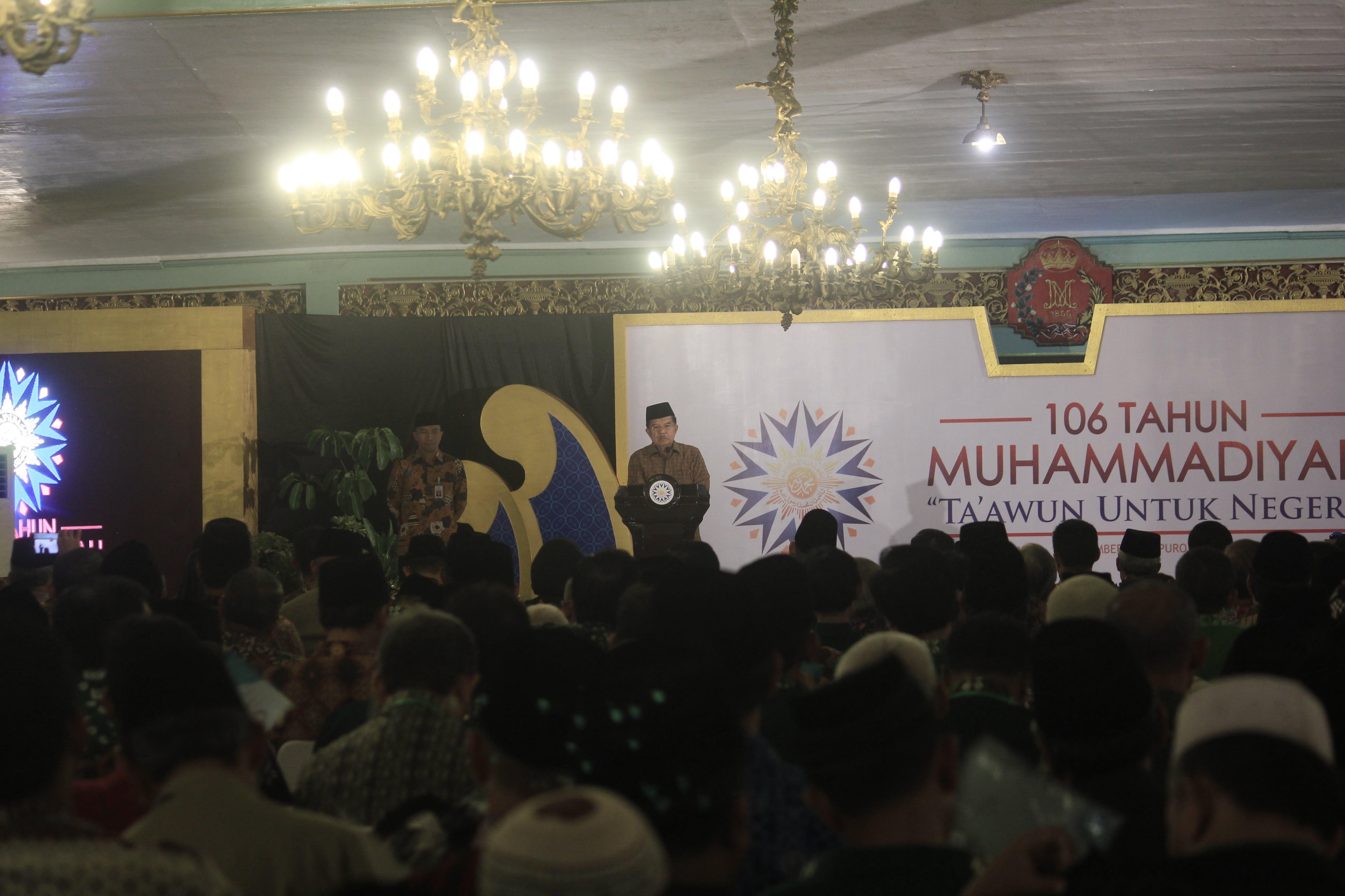 Jusuf Kalla Muhammadiyah Berandil Besar Dalam Kemajuan Bangsa Produk Ukm Bumn Bella Dan Balon Merah
