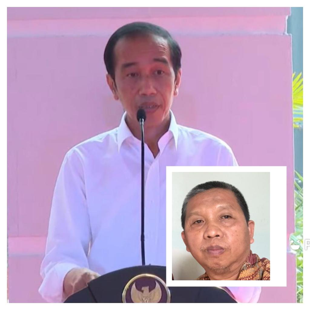 Presiden Joko Widodo saat meresmikan PSEL (inzet) penulis Djoko Tetuko