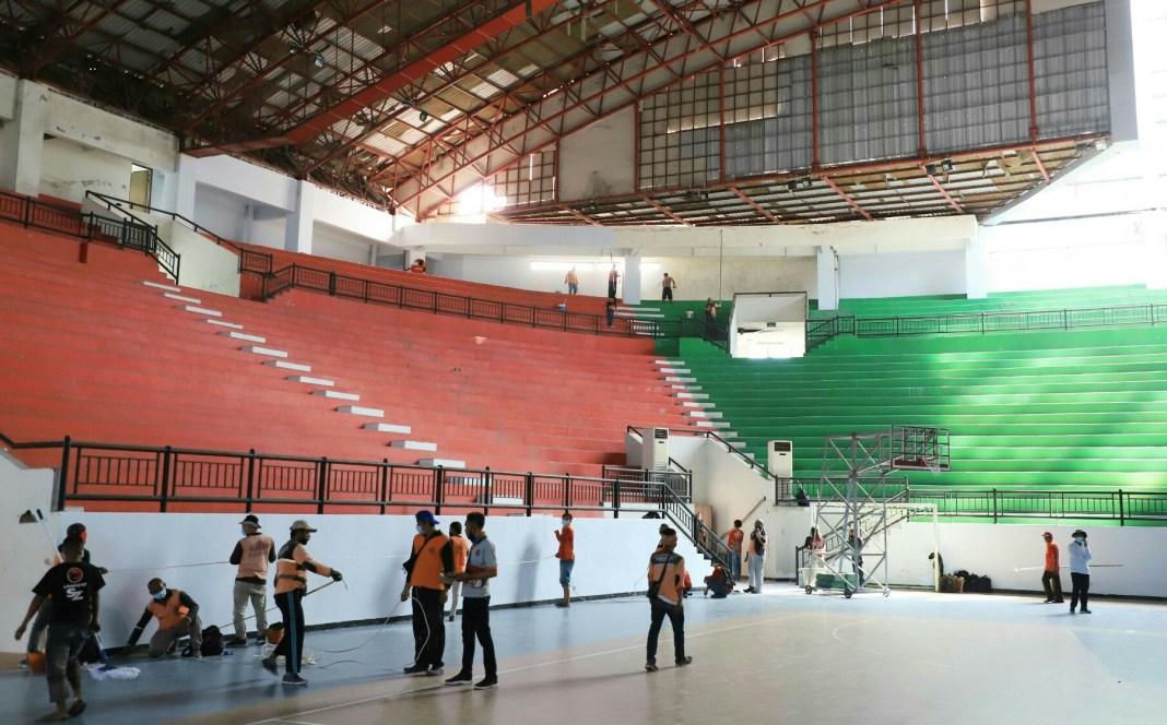 Faskes RS Darurat GOR Indoor GBT dan Lapangan Kalibokor Mulai Digarap
