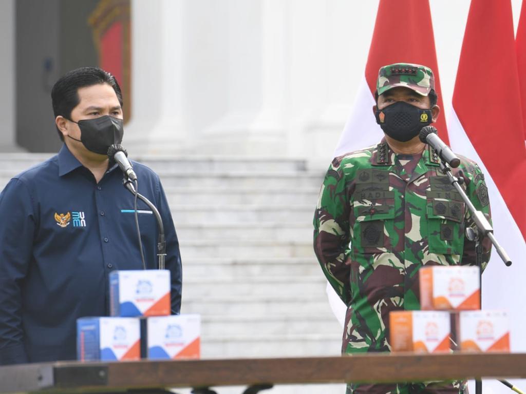 Perintah Presiden, Panglima TNI Koordinasikan Pendistribusian Paket Obat Isoman Gratis