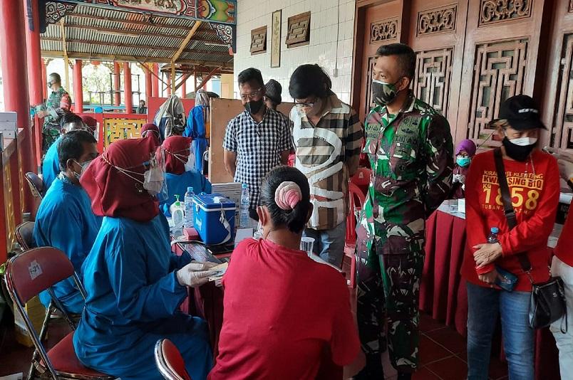 Program Vaksinasi Kodim 0811 Tuban Sasar Klenteng,Ponpes dan Tempat Wisata