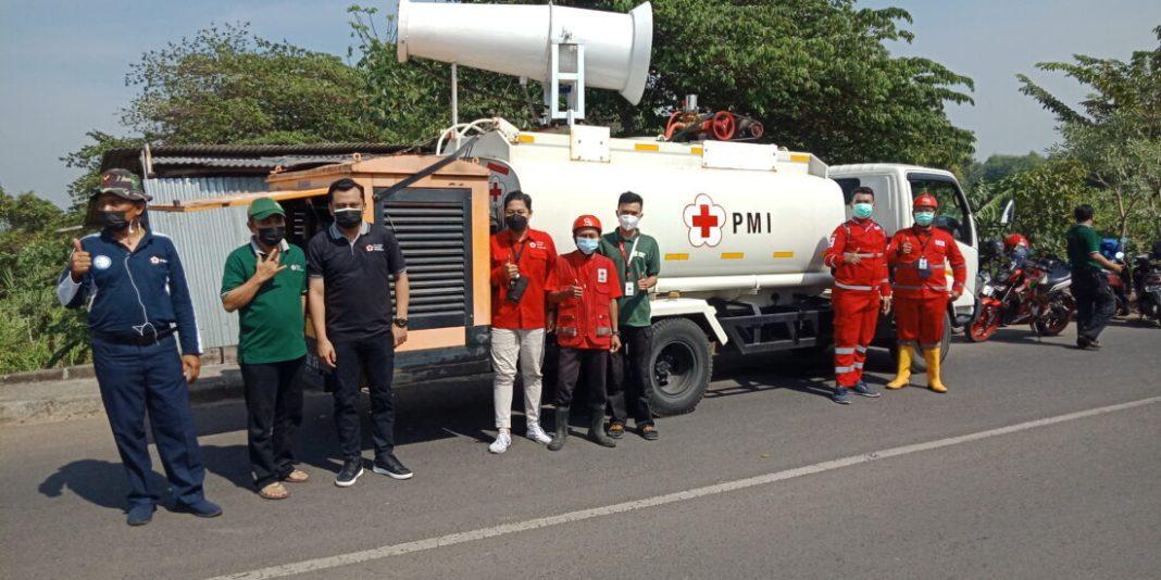 Sudah Melandai, PMI Kota Mojokerto Tetap Spraying