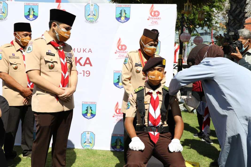 Gubernur Khofifah Ajak Kwarcab Pramuka Jaga Semangat Persaudaraan dan persatuan