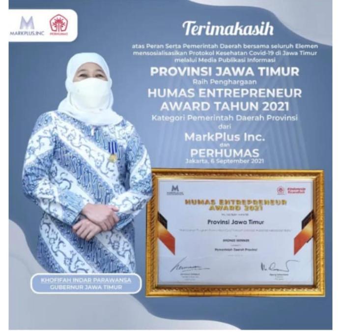 """Penghargaan """"Humas Enterpreneur Award 2021"""" Jembatan Kesejahteraan Rakyat"""