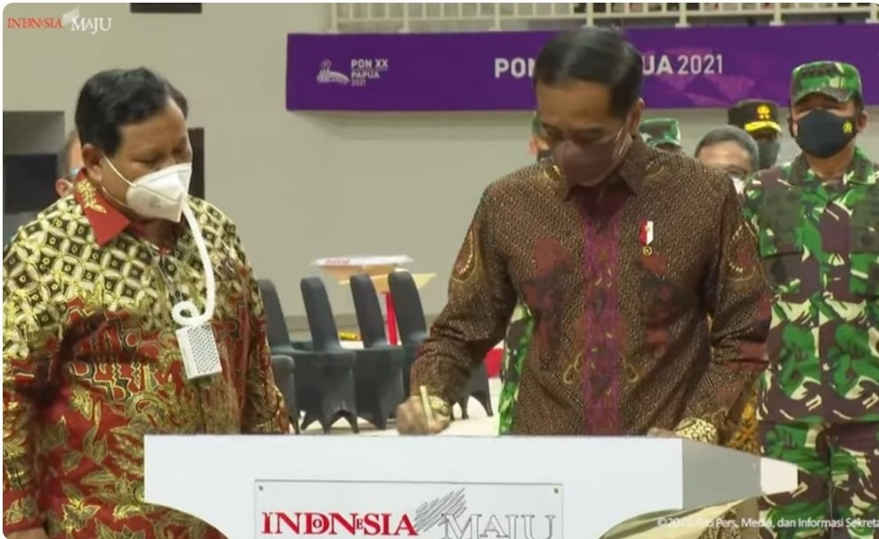 Presiden Resmikan Venue PON Papua
