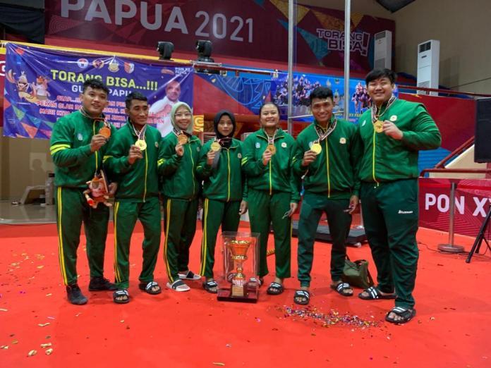 Raih 7 Emas, Jatim Juara Umum Gulat PON XX Papua