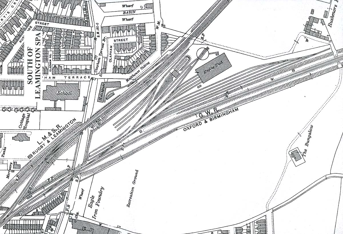 Leamington Shed A Map Showing The Layout Of