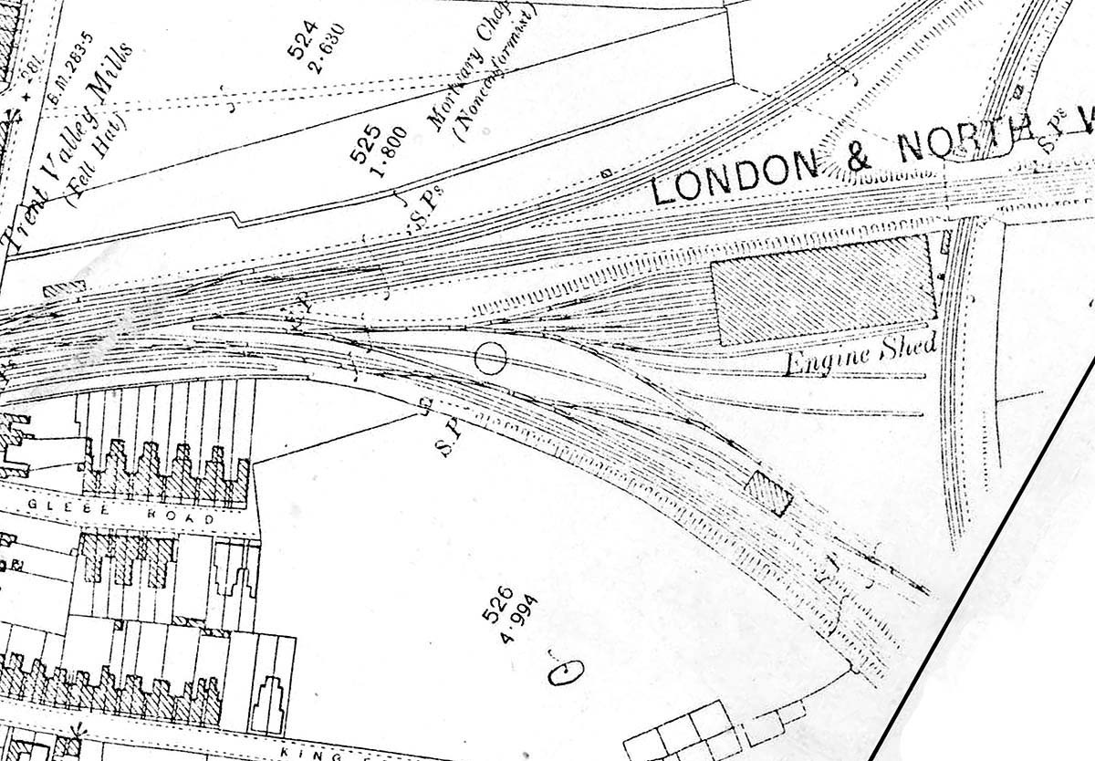 Nuneaton Station A Map Showing The Layout Of