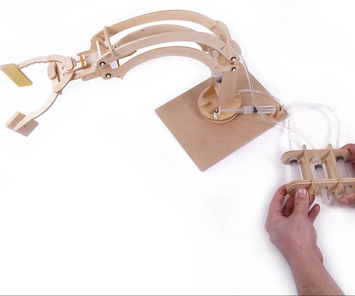 Roboter-Arm Spielzeug aus Holz für Männer