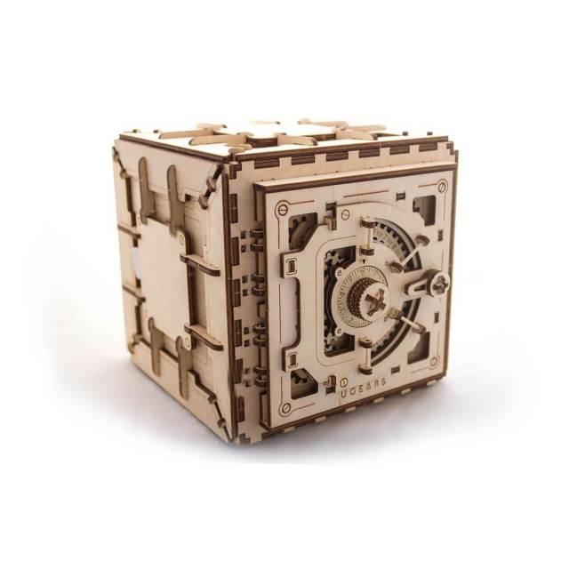 Holztresor Bausatz braun, Hölzernes Geschenk Männerspielzeug kaufen – Männerspielzeuge finden – Spielzeug für Männer finden – bestes Männerspielzeug – Männerspielzeug im Vergleich