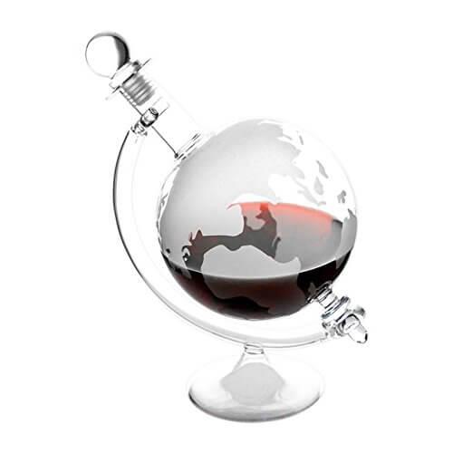 Karaffe im Globus-Design Geschenk für papa