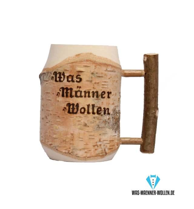 Hölzerner Bierkrug - personalisierte Geschenke für Väter Opa