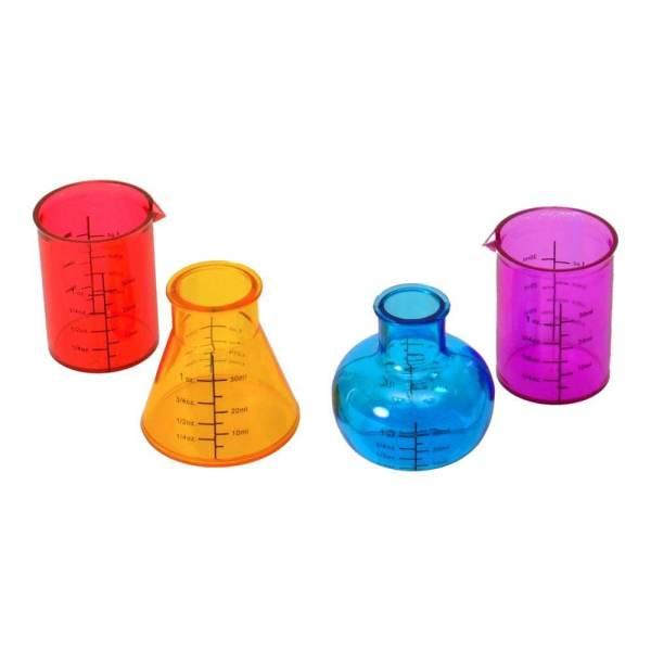 25 4 Reagenzglas Schnapsgläser - Labor Kolben Shotgläser - Chemie - Shot Becher - Tequila Gläser - Schnaps Becher - Stamperl - Pinneken - Pinnchen - Schott Glas - Gläser Set