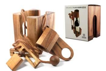 Flaschenpuzzle aus edlem Holz - Geschenke für Weinkenner Weinliebhaber Geschenke für Männer kaufen Männergeschenke 4