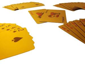 Goldene Spielkarten - Geschenke für Männer