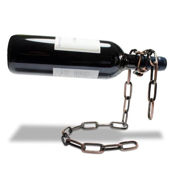 Ketten Flaschenhalter Kettenweinflaschenhalter Schnapsflaschenhalter aus Metallkette 3