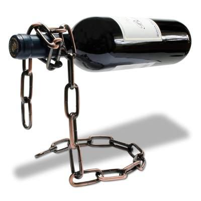 Ketten Flaschenhalter Kettenweinflaschenhalter Schnapsflaschenhalter aus Metallkette