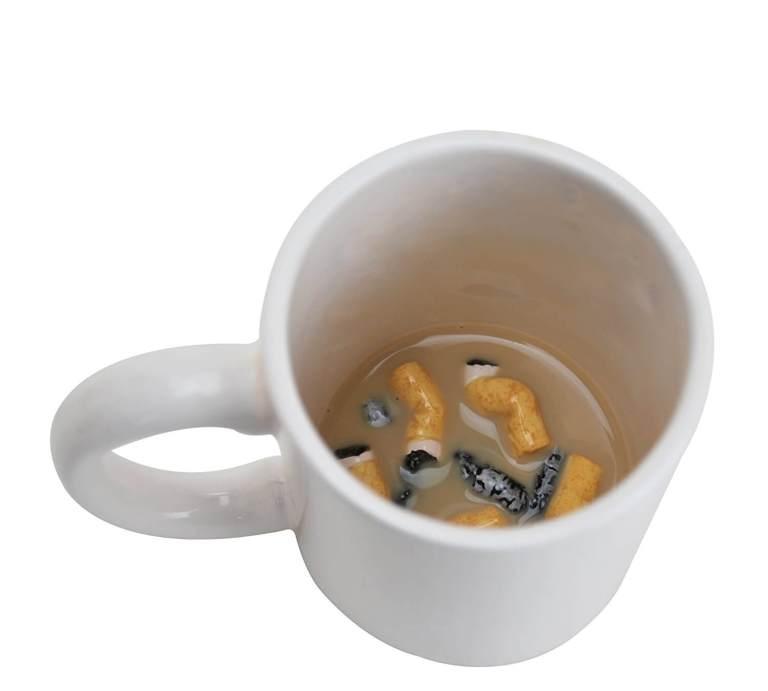 Kaffee-Aschen-Becher - Scherzartikel für den Mann