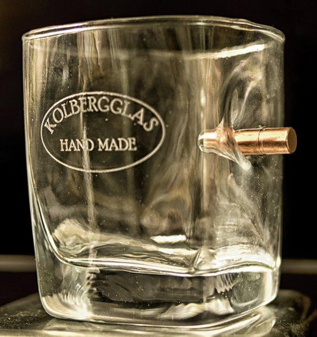 Whisky Glas mit Patrone - Geschenk- Personalisiert Personalisierbar - Handarbeit - Einzigartig