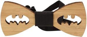 Batman Holzfliege - Fliege aus Holz für Männer - Männergeschenke kaufen