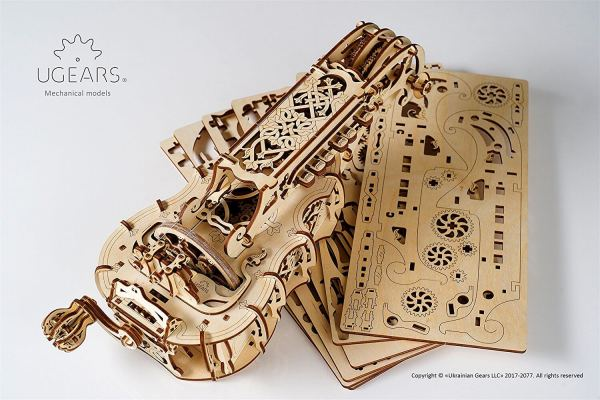 Holzbausatz - besten Holzmodell kaufen - Bausatz aus Holz - Geschenkidee und Männerspielzeug - Drehleier aus Holz 3
