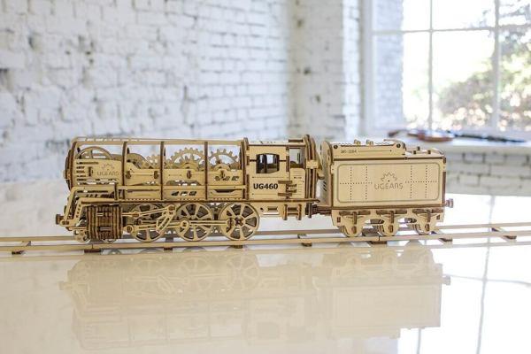 Holzbausatz - besten Holzmodell kaufen - Bausatz aus Holz - Geschenkidee und Männerspielzeug - Lokomotive aus Holz 5