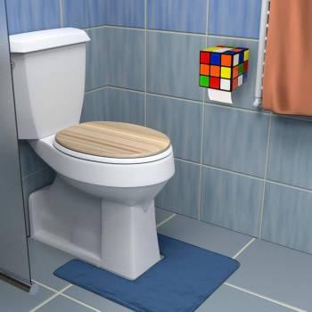 Nerd Geschenke - Die besten Gadgets für Geeks - Rubiks Cube Zauberwürfel Toilettenpapierhalter