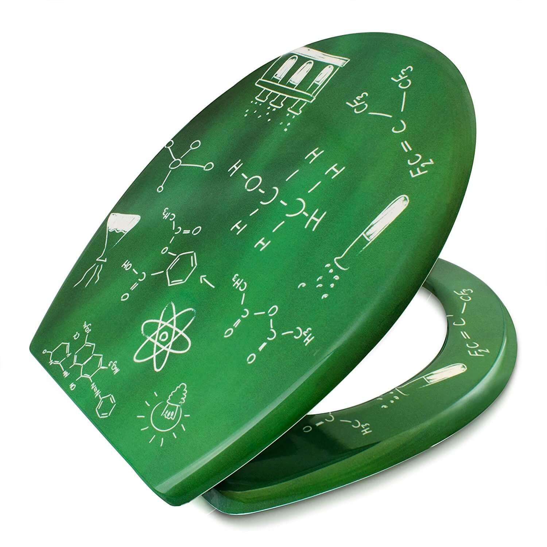Nerd Geschenke - Die besten Gadgets für Geeks - Toilettensitz mit chemischen Formeln - Absenkautomatik Toilettendeckel