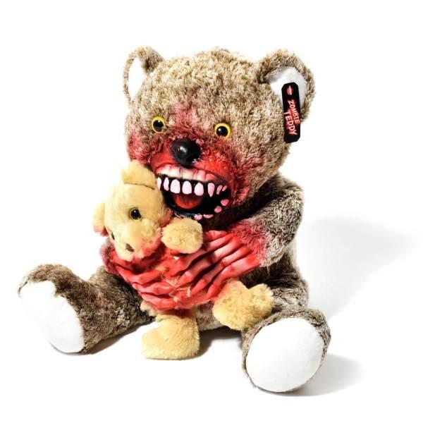 Zombie Teddy kaufen Geschenk für Horror Fans - Teddybär, Kuscheltier, Plüschtier, Stofftier - Knochen Hände mit kleinem 3