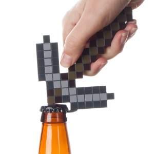 Aussergewöhnliche Flaschenöffner ungewöhnlich Kapselheber ausgefallen Bieröffner - coole, besondere, beste, originelle, aus Holz - Geek Falschenöffner Minecraft