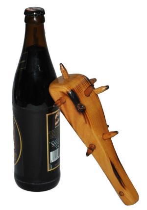 Aussergewöhnliche Flaschenöffner ungewöhnlich Kapselheber ausgefallen Bieröffner - coole, besondere, beste, originelle, aus Holz - Höhlenmensch Keule
