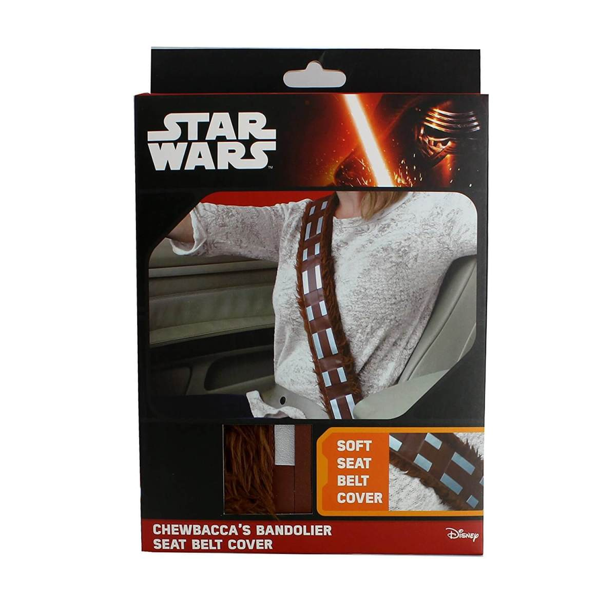 Star Wars Gurtpolster im Chewbacca Design Sicherheitsgurtpolster für Kinder und Erwachsene Nerdgeschenk