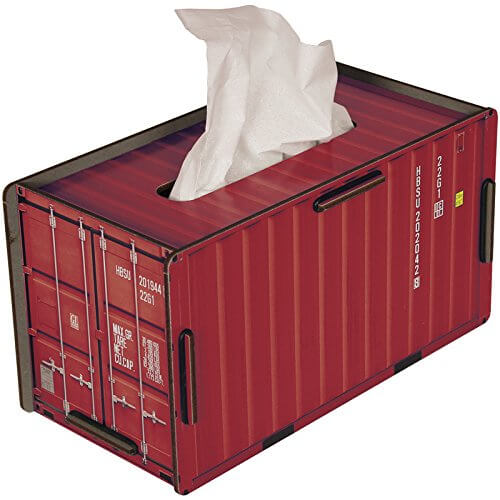 Wichstücher Box rot Wichstuchspender Samenauffangtuch-Box