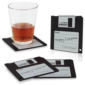 6 ausgefallene Retro Vintage Geschenke 1,44 MB Floppy Untersetzer