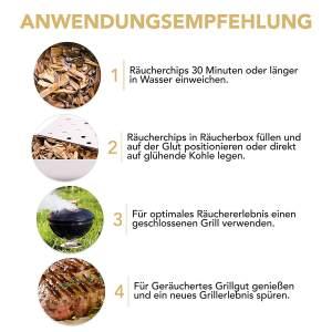 Grillaroma Chips BBQ Gadget Grill-Spezial BBQ-Räucherchips Anleitung